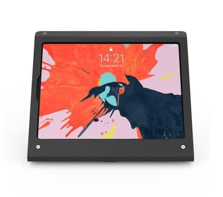 armourdog® secure tablet PoS kiosk with rotating base for iPad Pro 12.9 gen 3 in black