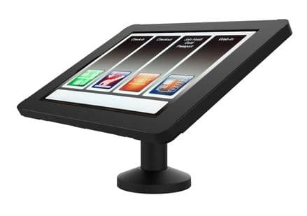 """armourdog® secure tablet POS kiosk with swivel mount for iPad Pro 12.9"""" gen 4 and 5 in black"""