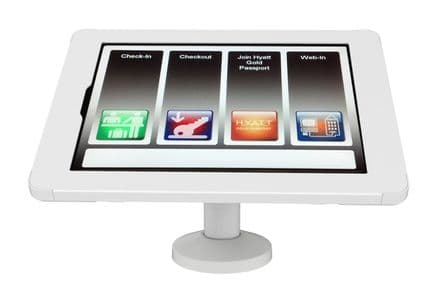 """armourdog® secure tablet POS kiosk with swivel mount for iPad Pro 12.9"""" (gen 4) in white"""