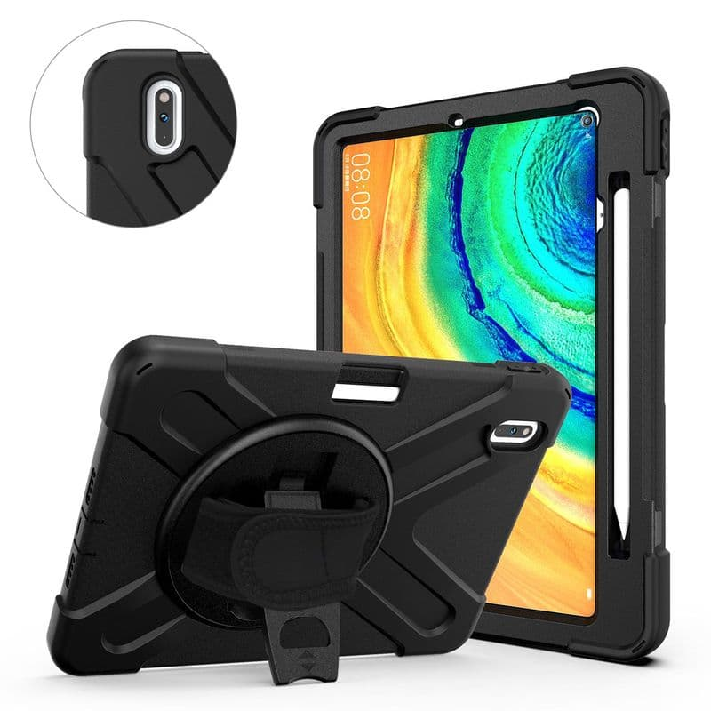 Rugged case for Huawei Matepad Pro 10.8 with hand/shoulder strap and kick stand