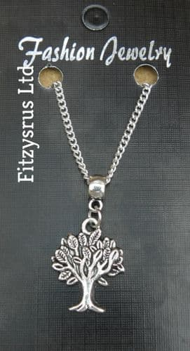 """18"""" or 24 Inch Chain Necklace & Tree of Life Pendant / Charm Gift Souvenir - New"""