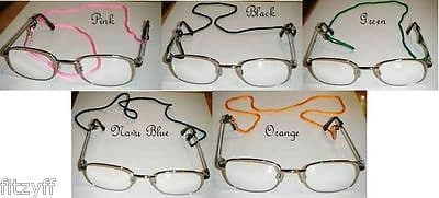 """24"""" Cord Lanyard 4 Glasses Spectacles Sunglasses Retainer Neck Strap Various Colour"""