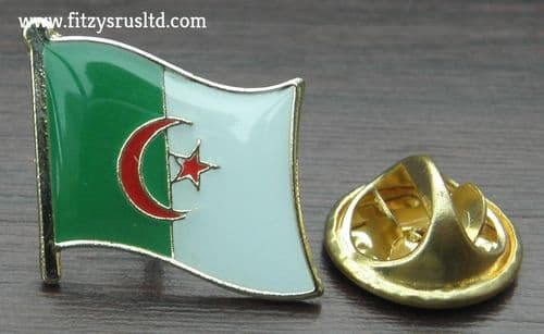 Algeria Algerian Country Flag - Lapel - Hat - Cap - Tie Pin Badge - Brand New