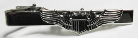 Aviator Pilot Wings Tie Bar Fix Clip Army Navy Air Force Aeroplane Plane Clasp