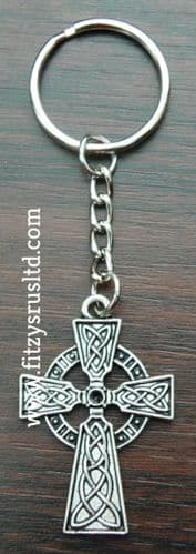 Celtic Cross Keyring Kroaz Geltek Key Ring