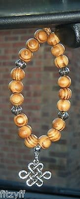 Chinese Knot Pendant & In Car Wood Wooden Beads China Lucky Charm