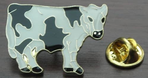 Cow Lapel / Tie / Hat or Cap Pin Badge - Brooch - Farmers Cattle Gift Brand New