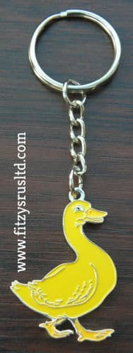 Duck Metal Key Ring Gift Souvenir Small Keyring