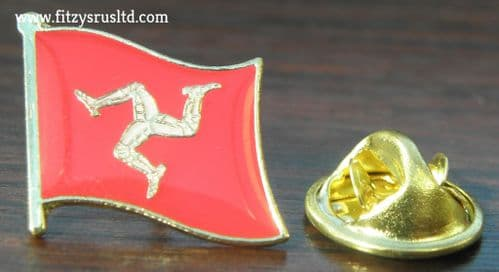 Isle of Man Flag Lapel Hat Cap Tie Pin Badge Ellan Vannin Mann IOM Brooch