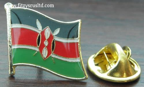 Kenya Kenyan Country Flag - Lapel - Hat - Cap - Tie Pin Badge - Brand New