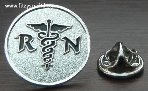Registered Nurse RN Lapel Hat Cap Tie Pin Badge Caduceus Medical Symbol Brooch