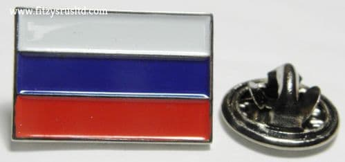 Russia Russian Country Flag Lapel Hat Cap Tie Pin Badge - Brooch - Brand New