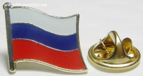 Russia Russian Country Flag Lapel Hat Cap Tie Pin Badge Brooch - Type2