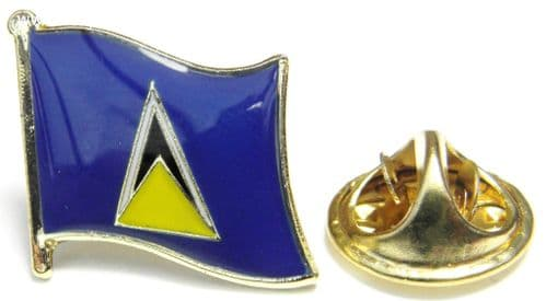 Saint St Lucia Flag Lapel Hat Cap Tie Pin Badge Sainte-Lucie Castries Souvenir