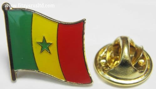 Senegal Flag Lapel Hat Cap Tie Pin Badge Rpublique du Sngal Gift Souvenir New