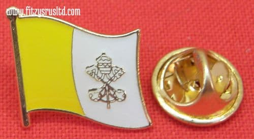 Vatican City Flag Lapel Hat Cap Tie Pin Badge Stato della Citt del Vaticano Catholic
