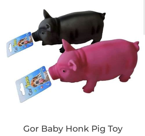 Gor Toons Baby Honk Pig Dog Toy
