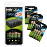 Duracell Multicharger & 12 Rechargeable Batteries Bundle