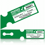 Personalised 'PASS' PAT Test Labels - TUFF TAG (250)