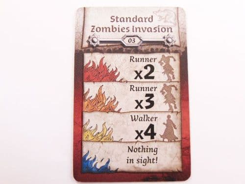 black plague zombi walker action card (random)
