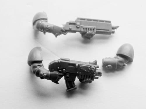 space marine scout bolter/shotgun arms