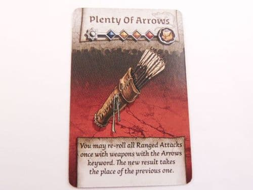 survivor equipment card (plenty of arrows)