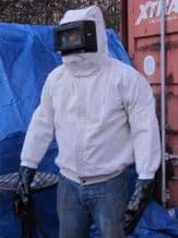 Canvas Shot Blast Suit for Grit Blasting YC-BS1. Sand Blast Protection