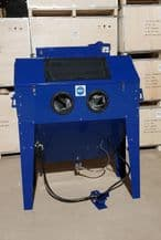 Large Foot Operated Sand Blast Cabinet with Built in Dust Extractor. SBC420 in Blue