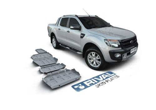 Rival Ford Ranger 2,2; 3,2 2012-2015; 2016- Full Kit W/ Tank (5 Pcs) 4 Mm Aluminium Plate