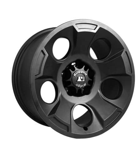 Rugged Ridge Drakon Wheel, 17X9, Black Satin, 07-19 Wrangler Jk/Jl