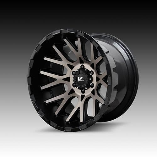 V-Rock Off Road Wheels Recoil Satin Black/Dark Machined Tint