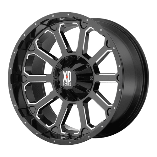 XD SERIES BY KMC WHEELS BOMB GLOSS BLACK W/ MILLED ACCENTS