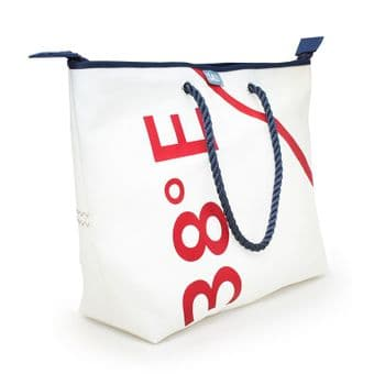 Compass Collection - Recycled Sailcloth Large City (with a zip) Shopper