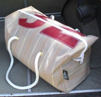 Heritage Stripe Canvas Sports Bag