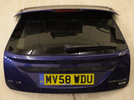 FORD FOCUS MK3 TAILGATE BOOT LID WITH SPOILER IN OCEAN BLUE 2008 - 2012