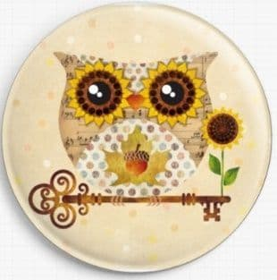 Buho Fall Owl By Sandra Vargas Licensed Art Needle Minder