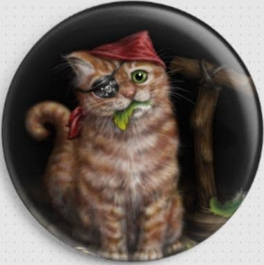 Pirate Cat By She Black Dragon Needle Minder