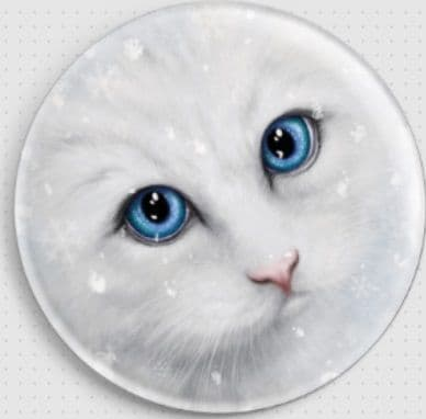 Winter Cat By She Black Dragon Needle Minder
