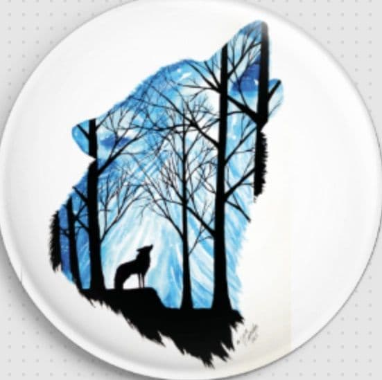 Wolf Licensed Art Needle Minder By Scandy Girl