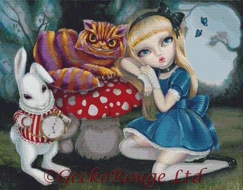 Alice in Wonderland By Simona Candini Cross Stitch Kit