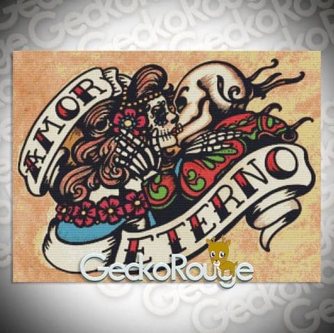 Amor Eterno By Illustrated Ink Cross Stitch Kit (ILINKAMET)