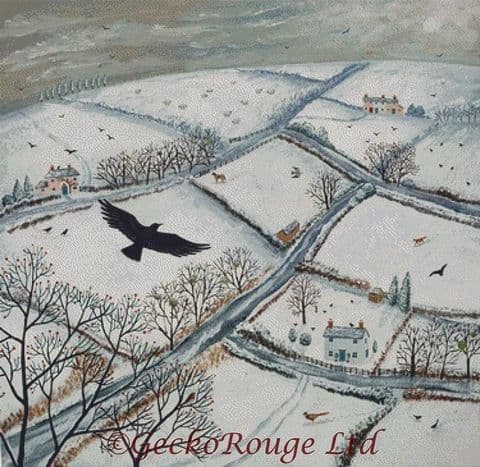 As The Crow Flies By Jo Grundy Cross Stitch Kit