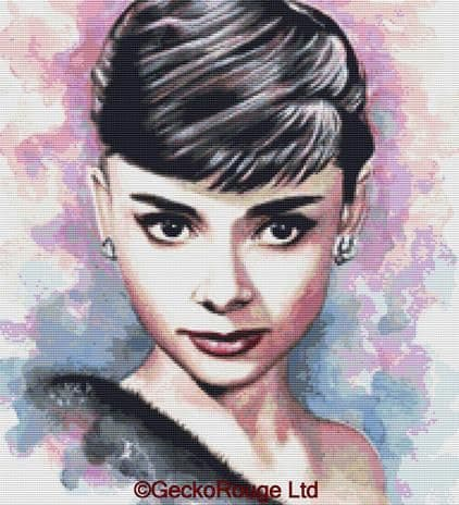 Audrey Hepburn By Emily Luella Cross Stitch Kit (ELADHPN )