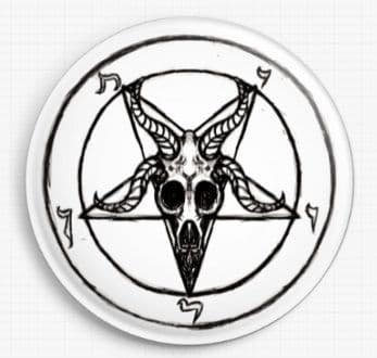 Baphomet Goat By Shayne Of The Dead Licensed Art Needle Minder