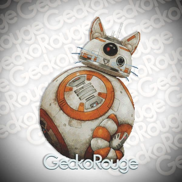 BB8CAT By Jenny Parks Cross Stitch Kit [READY TO SHIP]