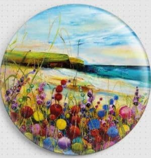 Beach Flowers By Rozanne Bell Needle Minder