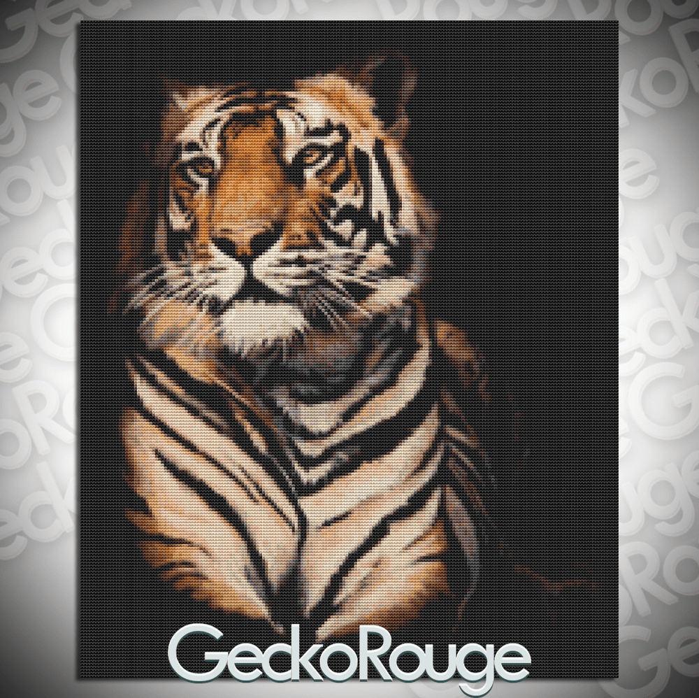 Beauty is in the eye of the tiger by April Rafko Modern Cross Stitch Art Kit
