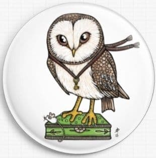 Beverlys Owl By Anita Inverarity Licensed Art Needle Minder