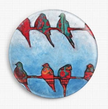 Birds On A Wire By Kim Ellery Licensed Art Needle Minder