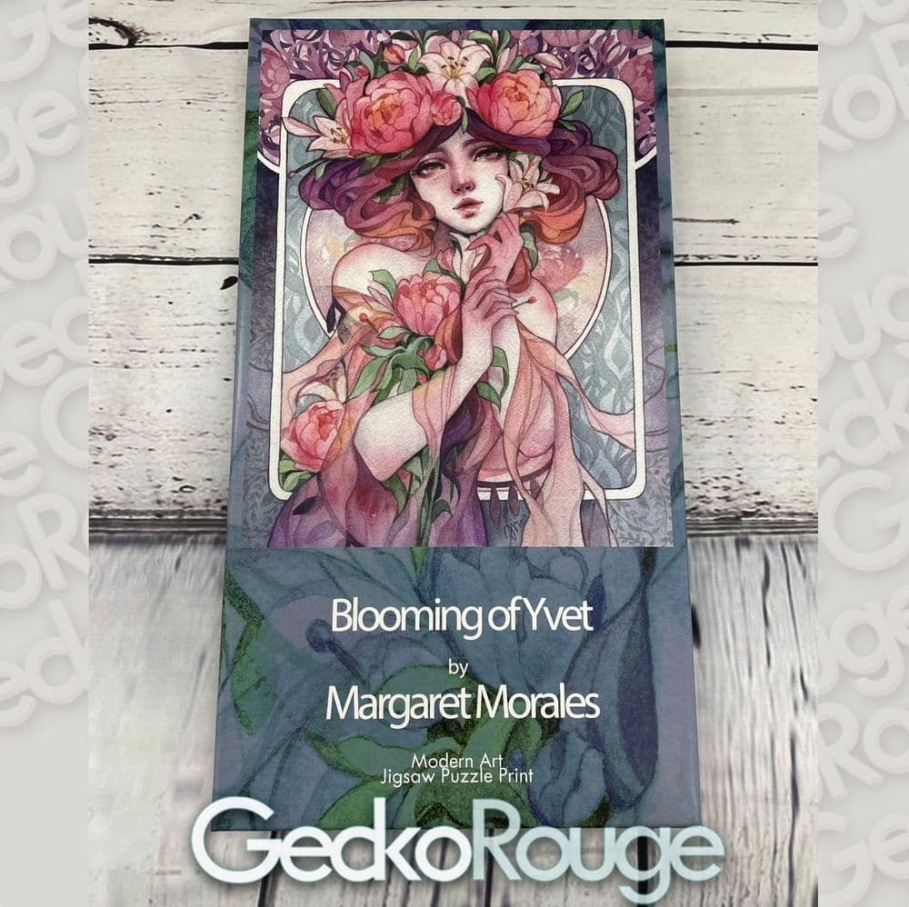 Blooming of Yvet by Margaret Morales  Art Jigsaw Puzzle Print [READY TO SHIP]